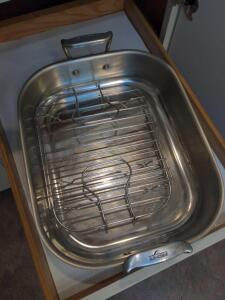 All-clad roasting pan with rack