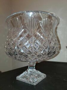 Incredible crystal punch bowl. 11.5x11.5""