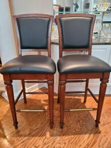 "Pair of large barstools. 21x20x50"" tall. Seat height 32"""