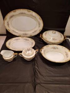 Noritake China in the Alvin pattern circa 1933. 6-piece completer set.