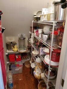 Pantry contents. Does not include central vac accessories.