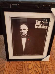 celebrities print entitled The Godfather.26x22""