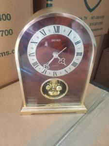 "A beautiful seiko quartz anniversary clock 9"" tall"