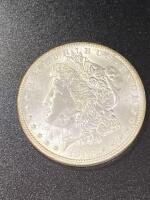 1898 Morgan silver dollar almost uncirculated