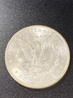 1898 Morgan silver dollar almost uncirculated - 2