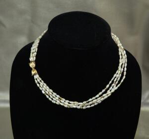 Baroque Pearl Four Strand Necklace