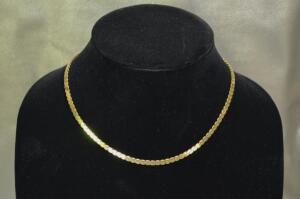 Balestra 18 Karat Yellow Gold Serpentine Necklace