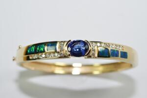 Lady's Tanzanite and Opal Bracelet