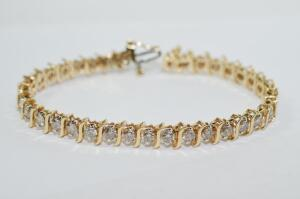 Lady's 5.2 Carat Total Weight Diamond Tennis Bracelet