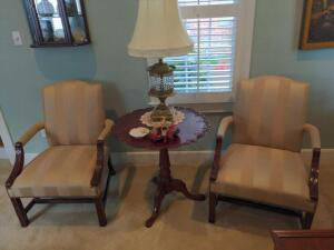 Pair of Statesville chair company armchairs