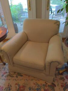 Light Sage Green quilted side chair