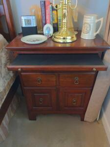 Nightstand with pull out writing desk - Ducks Unlimited Collection by Kincaid