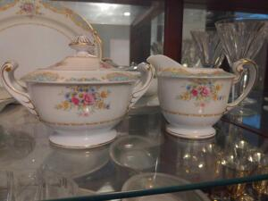 Sango China Sugar Creamer set