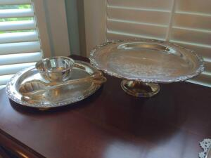 Beautiful vintage silver plated serving pieces
