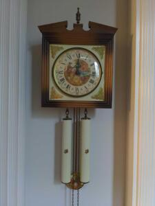 German Fragonard Schmeckenbecher Vintage Wall 8 day Clock (Junghans Hermle era)
