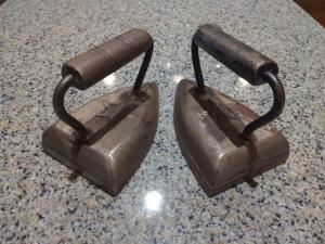 Pair of vintage irons