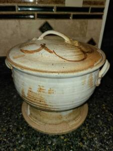 Pottery Soup Tureen signed but signature faded