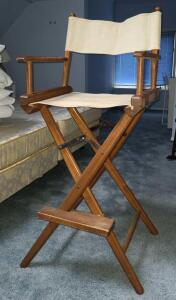 4 Real Wood Director Chairs fold up for storage