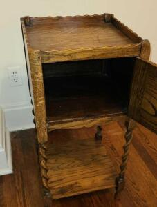"Wooden phone table/ cabinet 29.5"" x 14"" x 14"""