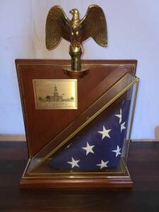 AMERICAN FLAG FLOWN OVER INDEPENDENCE HALL 1987