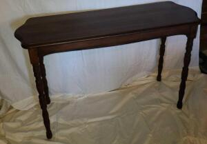 "ANTIQUE SOFA TABLE REAL WOOD 31"" TALL x 48"" WIDE x 16.25"" DEEP"