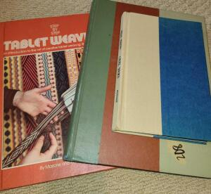 3 BOOKS. TABLET WEAVING.1957 GOOD HOUSEKEEPING. STEVE MARTIN CRUEL SHOES