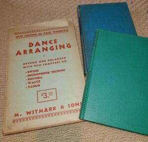 3 ANTIQUE MUSIC AND DANCE BOOKS