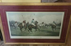 "2 FRAMED POLO PRINTS. 19"" X 22.5 "". 20"" X 29.25"". DUSTY"