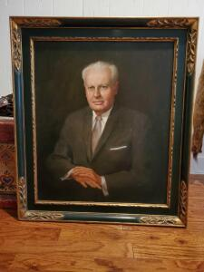 Beautifully framed oil painting of a distinguished gentleman.