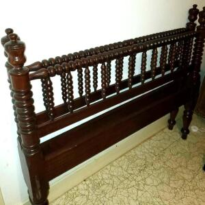 Handmade Jenny Lind spool bed. Double size bed in fabulous shape.