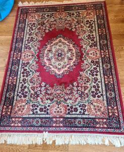 "ORIENTAL LARGE AREA RUG 66"" x 48"" EXCELLENT CONDITION"