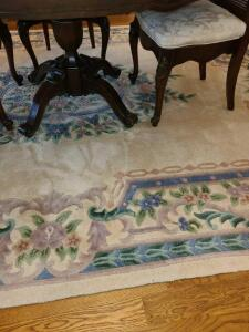 "VERY NICE ROOM RUG 93"" x 128"". EXCELLENT CONDITION"