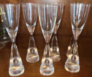 6 UNIQUE AFTER DINNER SNIFTER GLASSES 6""