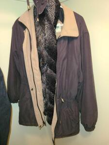 LADIES LONDON FOG COAT AND SCARF WITH DETACHABLE HOOD