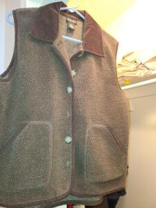 LADIES BROWN FLEECE VEST AND BLACK AND WHITE FLEECE AND MICRO FIBER JACKET