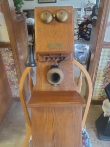 An antique montgomery ward telephone