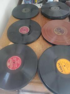 A large group of OLD records! I'm not going to list these, but some of the labels