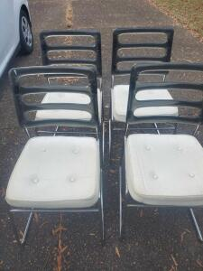 "4 chromcraft chairs, seats are 19"" backs 3r"" tall"