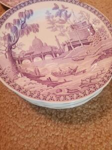 "A grouping if ten 10"" spode plates, and one 9"""