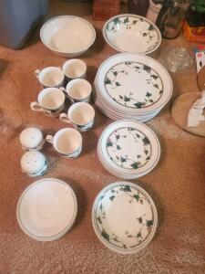 A grouping of noritake dishes