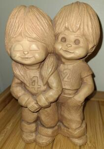 "1970's YOUNG LOVE BOY AND GIRL 8.5"" X 5.5"""