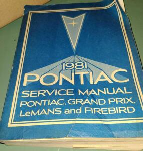 1981 PONTIAC FIREBIRD, LEMANS, AND GRAND PRIX SERVICE MANUAL