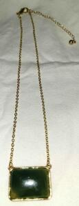 "14"" GOLD AND STONE NECKLACE"
