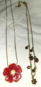 2 DAISY NECKLACES 16""