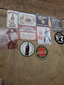 Mancave signs. (Reproductions)