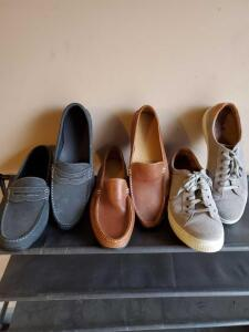 3 pair of men's shoes. The loafers are new Foot Joy brand.