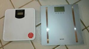 2 WEIGHT SCALES: TAYLOR AND HEALTH O METER