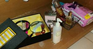 CONTENTS UNDER RIGHT BATHROOM VANITY. SEE PICTURES