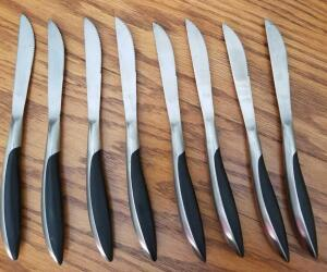8 FORGED STAINLESS STEEL MADE IN JAPAN KNIVES. BUTTER KNIFE TYPE