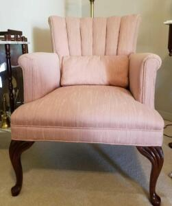 "QUEEN ANNE CHAIR 36"" SEATBACK, 26"" WIDE, 25"" DEEP"